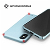 Ringke Slim iPhone X Tam Kenar Koruma Sky Blue Rubber Kılıf - Resim 3