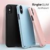 Ringke Slim iPhone X Tam Kenar Koruma Sky Blue Rubber Kılıf - Resim 5