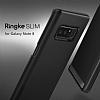 Ringke Slim Samsung Galaxy Note 8 Tam Kenar Koruma Siyah Rubber Kılıf - Resim 2