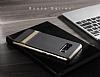 Rock Royce Samsung Galaxy Note 8 Dark Silver Metalik Kenarlı Siyah Silikon Kılıf - Resim 5