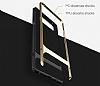 Rock Royce Samsung Galaxy Note 8 Dark Silver Metalik Kenarlı Siyah Silikon Kılıf - Resim 8