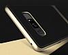 Rock Royce Samsung Galaxy Note 8 Dark Silver Metalik Kenarlı Siyah Silikon Kılıf - Resim 7