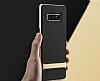 Rock Royce Samsung Galaxy Note 8 Dark Silver Metalik Kenarlı Siyah Silikon Kılıf - Resim 9