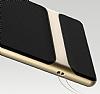 Rock Royce Samsung Galaxy Note 8 Dark Silver Metalik Kenarlı Siyah Silikon Kılıf - Resim 2