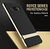 Rock Royce Samsung Galaxy Note 8 Dark Silver Metalik Kenarlı Siyah Silikon Kılıf - Resim 10