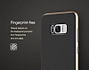 Rock Royce Samsung Galaxy S8 Dark Silver Metalik Kenarlı Siyah Silikon Kılıf - Resim 13