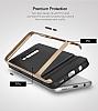 Rock Royce Samsung Galaxy S8 Dark Silver Metalik Kenarlı Siyah Silikon Kılıf - Resim 12