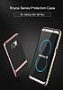 Rock Royce Samsung Galaxy S8 Dark Silver Metalik Kenarlı Siyah Silikon Kılıf - Resim 9