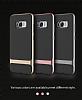 Rock Royce Samsung Galaxy S8 Dark Silver Metalik Kenarlı Siyah Silikon Kılıf - Resim 18