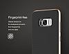 Rock Royce Samsung Galaxy S8 Plus Dark Silver Metalik Kenarlı Siyah Silikon Kılıf - Resim 13