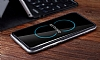 Rock Royce Samsung Galaxy S8 Plus Dark Silver Metalik Kenarlı Siyah Silikon Kılıf - Resim 5