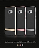 Rock Royce Samsung Galaxy S8 Plus Dark Silver Metalik Kenarlı Siyah Silikon Kılıf - Resim 18