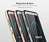 Rock Royce Samsung Galaxy S8 Plus Dark Silver Metalik Kenarlı Siyah Silikon Kılıf - Resim 16