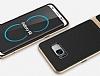 Rock Royce Samsung Galaxy S8 Plus Dark Silver Metalik Kenarlı Siyah Silikon Kılıf - Resim 8