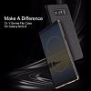 Rock Samsung Galaxy Note 8 Manyetik Kapaklı Siyah Kılıf - Resim 1