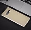 Rock Samsung Galaxy Note 8 Manyetik Kapaklı Gold Kılıf - Resim 5