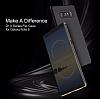 Rock Samsung Galaxy Note 8 Manyetik Kapaklı Gold Kılıf - Resim 8