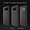 Rock Samsung Galaxy S8 Plus Karbon Siyah Rubber Kılıf - Resim 8