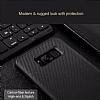 Rock Samsung Galaxy S8 Plus Karbon Siyah Rubber Kılıf - Resim 2