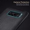 Rock Samsung Galaxy S8 Plus Karbon Siyah Rubber Kılıf - Resim 3