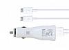 Samsung EP-LN915UBEGWW Yüksek Kapasiteli Orjinal Micro USB Beyaz Araç Şarj Aleti
