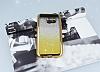 Samsung Galaxy A3 2017 Simli Parlak Gold Silikon Kılıf - Resim 1