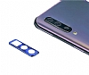Samsung Galaxy A50 Lacivert Metal Kamera Lensi Koruyucu