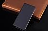 Samsung Galaxy A6 2018 İnce Yan Kapaklı Cüzdanlı Lacivert Kılıf - Resim 1