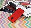 Samsung Galaxy A6 2018 Mat Kırmızı Silikon Kılıf - Resim 2