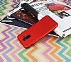 Samsung Galaxy A6 Plus 2018 Mat Kırmızı Silikon Kılıf - Resim 1