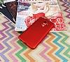 Samsung Galaxy A6 Plus 2018 Mat Kırmızı Silikon Kılıf - Resim 2