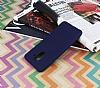 Samsung Galaxy A6 Plus 2018 Mat Lacivert Silikon Kılıf - Resim 1