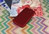 Samsung Galaxy A7 2017 Noktalı Mat Kırmızı Silikon Kılıf - Resim 2
