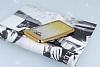 Samsung Galaxy A7 2017 Simli Parlak Gold Silikon Kılıf - Resim 2