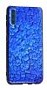 Samsung Galaxy A7 2018 Marble Lacivert Silikon Kılıf