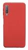 Samsung Galaxy A7 2018 Mat Kırmızı Silikon Kılıf