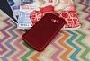 Samsung Galaxy A8 2016 Mat Kırmızı Silikon Kılıf - Resim 1