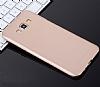 Samsung Galaxy A8 Mat Kırmızı Silikon Kılıf - Resim 3