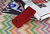 Samsung Galaxy C5 Mat Kırmızı Silikon Kılıf - Resim 1