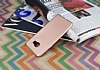 Samsung Galaxy C7 Mat Rose Gold Silikon Kılıf - Resim 1