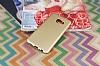Samsung Galaxy C7 Mat Gold Silikon Kılıf - Resim 2