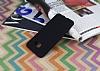 Samsung Galaxy C7 Mat Siyah Silikon Kılıf - Resim 1