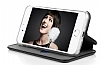 Samsung Galaxy C7 Pro Curve Manyetik Kapaklı Siyah Deri Kılıf - Resim 1