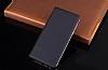 LG Q6 İnce Yan Kapaklı Cüzdanlı Gold Kılıf - Resim 4