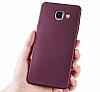 Samsung Galaxy C7 Pro Mat Rose Gold Silikon Kılıf - Resim 4