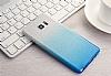 Samsung Galaxy C7 Pro Simli Mavi Silikon Kılıf - Resim 4