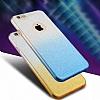 Samsung Galaxy C7 Pro Simli Mavi Silikon Kılıf - Resim 1