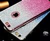 Samsung Galaxy C7 Pro Simli Mavi Silikon Kılıf - Resim 2