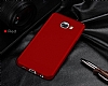 Samsung Galaxy C7 Pro Tam Kenar Koruma Kırmızı Rubber Kılıf - Resim 4