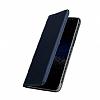 Samsung Galaxy C9 Pro Cüzdanlı Yan Kapaklı Lacivert Deri Kılıf - Resim 1